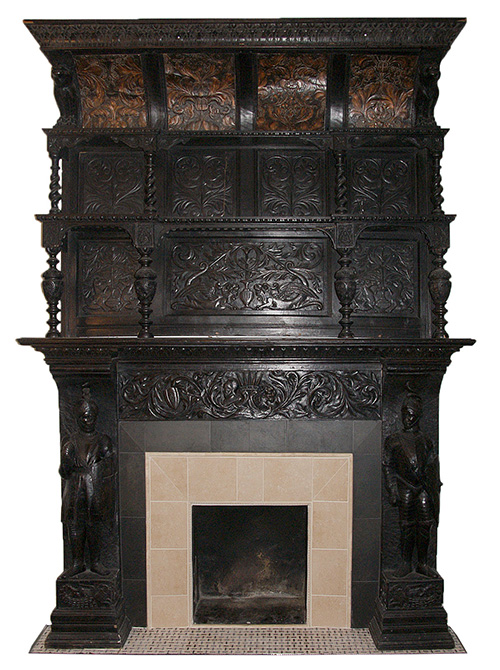 German Renaissance Fireplace Mantel from Demolition Depot