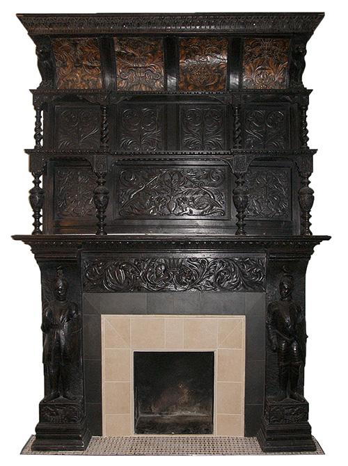 German Renaissance Fireplace Mantel from Demolition Depot
